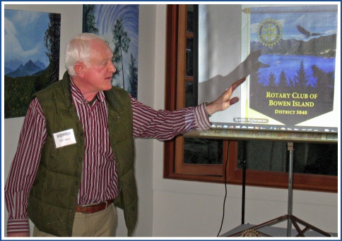 Piers Hayes with new RCBI banner