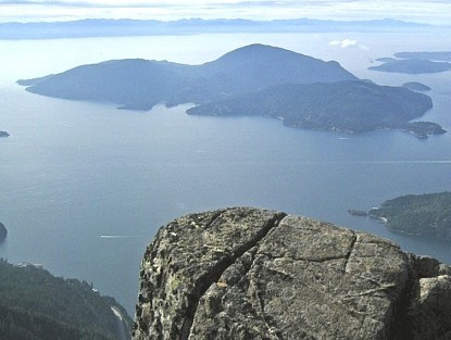 Bowen Island from St. Marks Peak