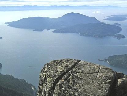 Bowen Island from St. Marks Peak