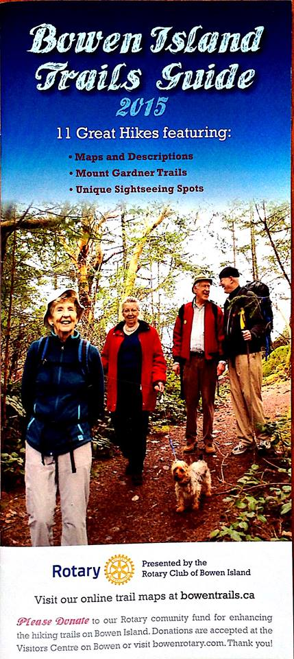Piers Hayes on the cover of Trails Guide for Bowen Island