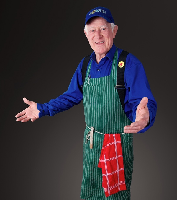 Piers Hayes wearing apron